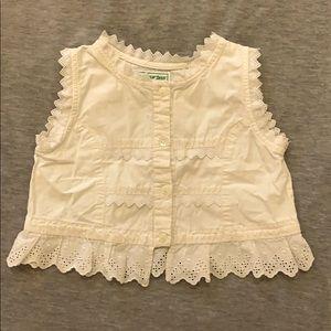 💥2 for 30$ Vintage white blouse